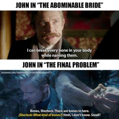 Probly cuz Sherlock's mind palace sees John as this really smart doctor
