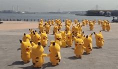 """Just a small """"outbreak"""" of real-life Pikachu roaming around, being all cute."""