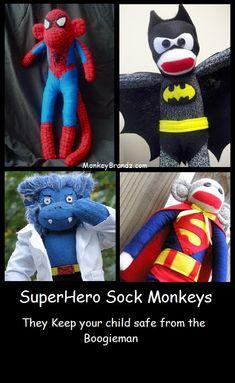 SuperHero Sock Monkeys!