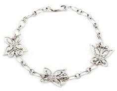 """Sterling Silver Cubic Zirconia Butterfly Bracelet, 7.25"""" $69"""