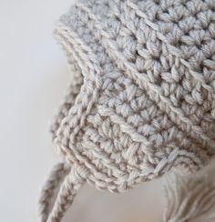 Warm Cozy Winter Vegan Baby Ear Flap Hat with Tassels