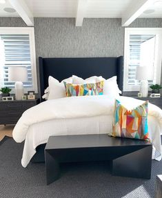 Bold and simply sopisticated just like how @realdesignpros loved it. Area Rugs, Bedroom, Grey, Inspiration, Furniture, Home Decor, Gray, Biblical Inspiration, Rugs