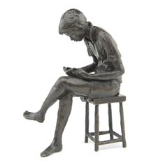 Solid bronze Large Seated Boy Wedgwood Museum Original Bronze Sculpture by Jonathan Sanders. high Castings available to buy directly from Nelson & Forbes. Limited edition, hand cast in Britain. Bronze Sculpture, Lion Sculpture, Hand Cast, It Cast, Interesting Reads, Wedgwood, Libraries, Collaboration, Museum
