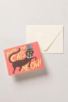 Cat's Meow Card - an