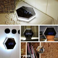 Led Night Light Multi-function Touch Sensing Led Digital Alarm Clock Temperature Display Table Lamp for Travel Makeup Mirror Travel Makeup Mirror, Wall Clock Light, Wall Clocks, Digital Mirror, Home Security Tips, Wireless Home Security Systems, Protecting Your Home, Led Night Light, Night Lights