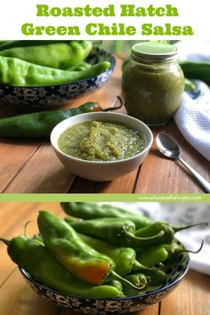It is hatch chile season, let's make roasted hatch green chile salsa. Hatch chile is also called New Mexico chile or New Mexican chile typically grown in Santa Fe, New Mexico in an area called Hatch Valley. These chiles are mild similar to poblano peppers, but some could be hotter on the level of spiciness of jalapeño peppers.  via @ABRecipes