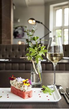 The Alverton Hotel in Truro, Cornwall. Contemporary and fresh food, beautifully presented. Summer menu.