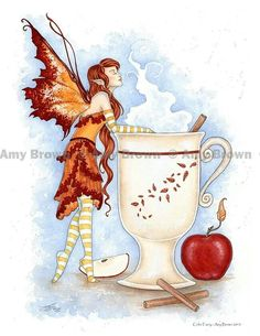 Amy Brown cider faery
