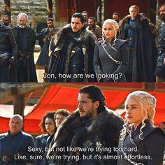 incorrectgotquotes on Instagram: source: brooklyn nine-nine game of thrones season 7 funny humour meme, Jon Snow, Daenerys Targaryen, Jonerys, Kit Harington, Emilia Clarke