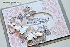 Detailed Floral Thinlits dies Stampin Up