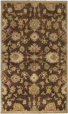 Surya EST-10523 Estate Classic Area Rug, 9-Feet by 13-Feet, Russet Made from 100% Wool. Size-9' x 13'/Pile Ht.-0.625. Made in India.  #Surya #Home