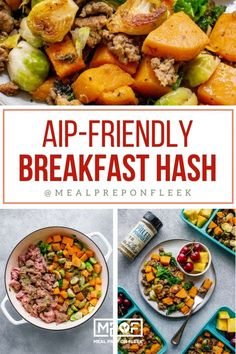 AIP-Friendly Breakfast Hash - Meal Prep on Fleek™ Paleo Meal Prep, Lunch Meal Prep, Easy Meal Prep, Easy Meals, Low Carb Dinner Recipes, Lunch Recipes, Paleo Recipes, Breakfast Recipes, Breakfast Ideas