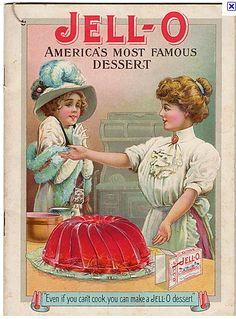 Vintage jello ad:  Stops diarrhea / strenthen nails.
