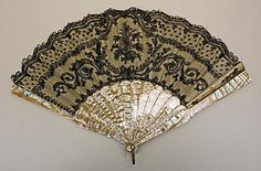 Fan  Date: 1860–70 Culture: American (probably) http://www.metmuseum.org/Collections/search-the-collections/80032738?rpp=20&pg=7&ft=*&what=Fans&pos=134