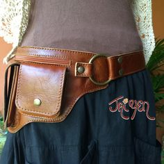 Leather Utility Belt-Hipster-Steampunk,Fanny Pack,Passport Pocket,Festival Belt