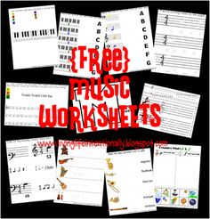 Help kids learn music theory with these Free Music Theory Worksheets and great music appreciation resources. Music Games, Music Theory Games, Music Theory Worksheets, Music Activities, Music Lessons For Kids, Music Lesson Plans, Music For Kids, Piano Lessons, Art Lessons