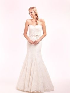 Alita Graham - Sweetheart Mermaid Gown in Lace