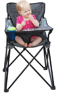 Get a portable high chair.   35 Little Hacks That Will Make Parenting So Much Easier for traveling moms!