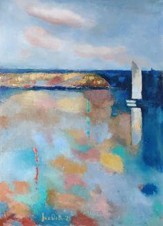 Sea Art, Figurative Art, Sailing, Abstract Art, My Arts, Landscape, Canvas, Artwork, Candle