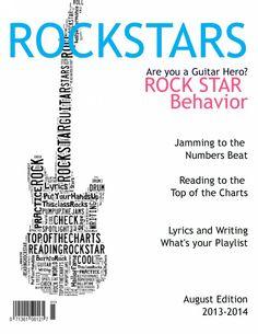 Read Like A Rock Star bookmarks | Stars, Rocks and Rock stars