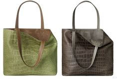 The Hermes Double Sens Croco Chiffon Tote is Two of a Kind #purses #springapparel trendhunter.com