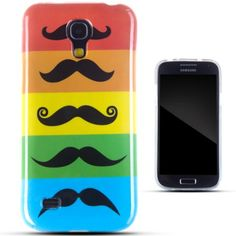 Zooky Colorful TPU Moustache Panel Case for Samsung Galaxy S4 mini I9190 *** You can find out more details at the link of the image.
