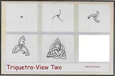 Triquetra-View Two  Please be sure to check out Triquetra-View One. I'm trying something a little different with this pattern. I thought possibly seeing how each step fits into the whole might make it easier to recreate the pattern. Let me know if it helps.