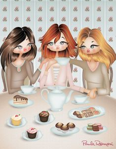 'Tea With Friends'   by Paula Romani
