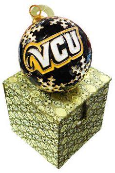 VCU Cloisonne Snowflake Ornament