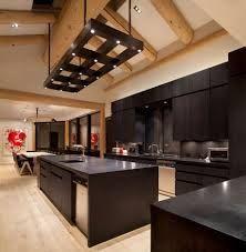 Dark cupboards dark counter top, bamboo floors