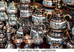 Stock Photo - Turkish Teapots for Sale in Istanbul Turkey - stock image, images, royalty free photo, stock photos, stock photograph, stock photographs, picture, pictures, graphic, graphics