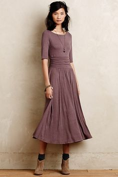Jersey Midi Dress #anthropologie want.