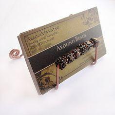 How to make a business card holder diy tutorial stephanie make a wire and bead business card holder colourmoves