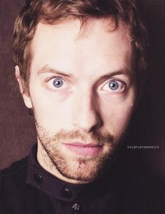 chris martin of coldplay look at those incredible eyes.