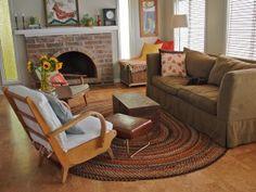 wool rug in living room