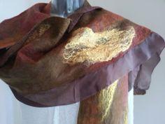 Paj silk Nuno with merino & mulberry silk embellishments.