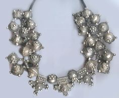 Mauritanian necklace with original stringing silver granulation and wire wrapping. 19th c