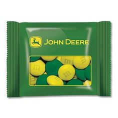 Custom M Candy in Green Package with John Deere Logo