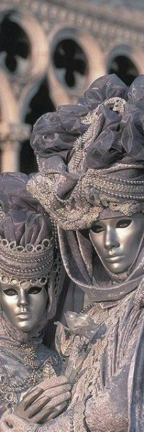 Beautiful silver Venetian costumes