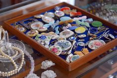 Vintage brooches and pins.