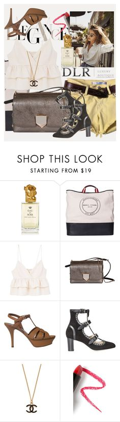 """""""SALES! DLRBOUTIQUE"""" by manuela-cdl ❤ liked on Polyvore featuring Sisley, Sonia Rykiel, MANGO, Jimmy Choo, Yves Saint Laurent and Lapcos"""