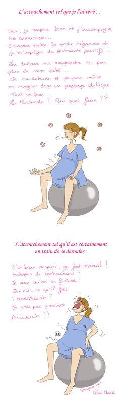 travail et accouchement avec ballon