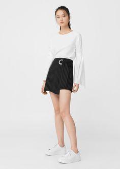 Buckle wrap skirt | MANGO