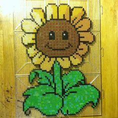 Sunflower perler bead art by bmachado13