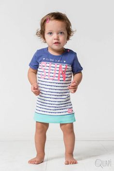 Quapi | Dress Felipa Jeans Blue Stripe Blue Stripes, Baby Girls, Babys, Jeans, Shirts, Dresses, Blue Streaks, Vestidos, Babies