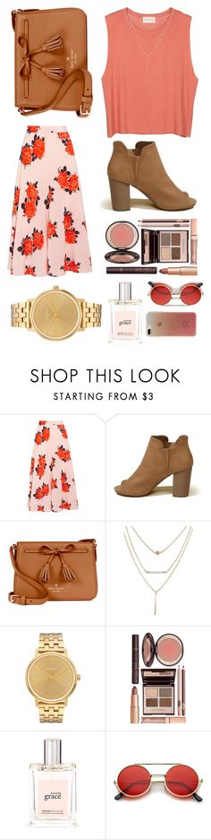 """""""June 9-2017 tgif"""" by micaiahjoi ❤ liked on Polyvore featuring American Vintage, Ganni, Hollister Co., Kate Spade, Nixon, Charlotte Tilbury and philosophy"""