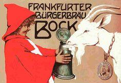 Vintage German bock beer poster.