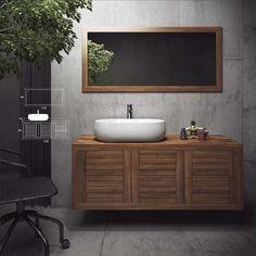 natural-bathroom-furniture-010 Natural Bathroom, Bathroom Furniture, Mosaic, Vanity, Home, Dressing Tables, Powder Room, Bathroom Storage Furniture, Mosaics