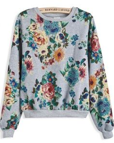 Floral sweater.