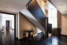 maison contemporaine avec escalier quart tournant bas